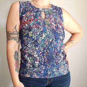Cabi stainedglass sleeveless blouse size XS #3093
